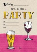 Jelly n Bean Beer & Wine Party Invitation - Pack of 20
